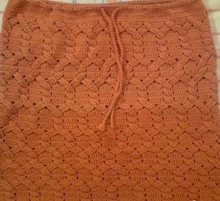 Узор для юбки крючком