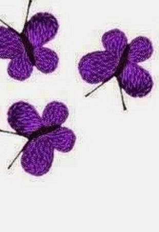 Связать бабочку крючком
