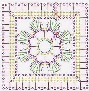 Схемы мотивов крючком