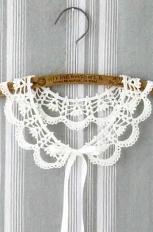 Белый воротничок крючком