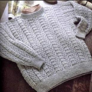 Мужской пуловер спицами 2019