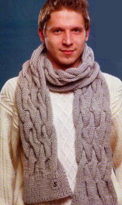 Вязание мужского шарфа спицами схема. по рисунку шапка вязание мужского шарфаВязание мужского шарфа спицами. схема...