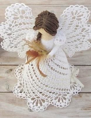 Схемы вязания ангелов крючком