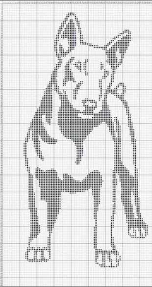 Схемы вышивки собак