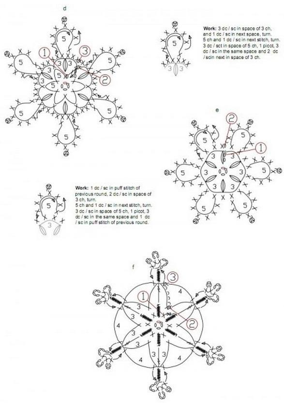 Новогодние снежинки, связанные