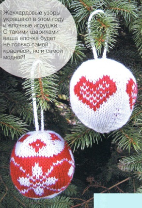 Вязаные новогодние шары