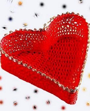 Шкатулка-сердечко крючком