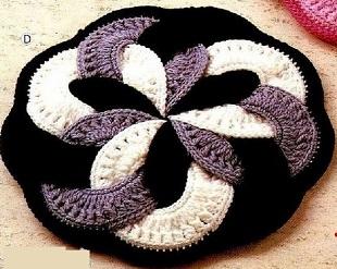 Схема вязания круглого коврика
