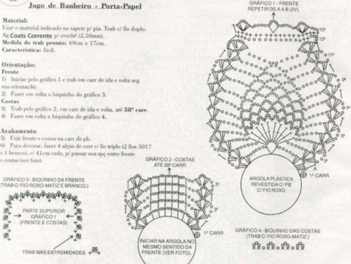 Вязание крючком схемы и описание ковриков для туалета