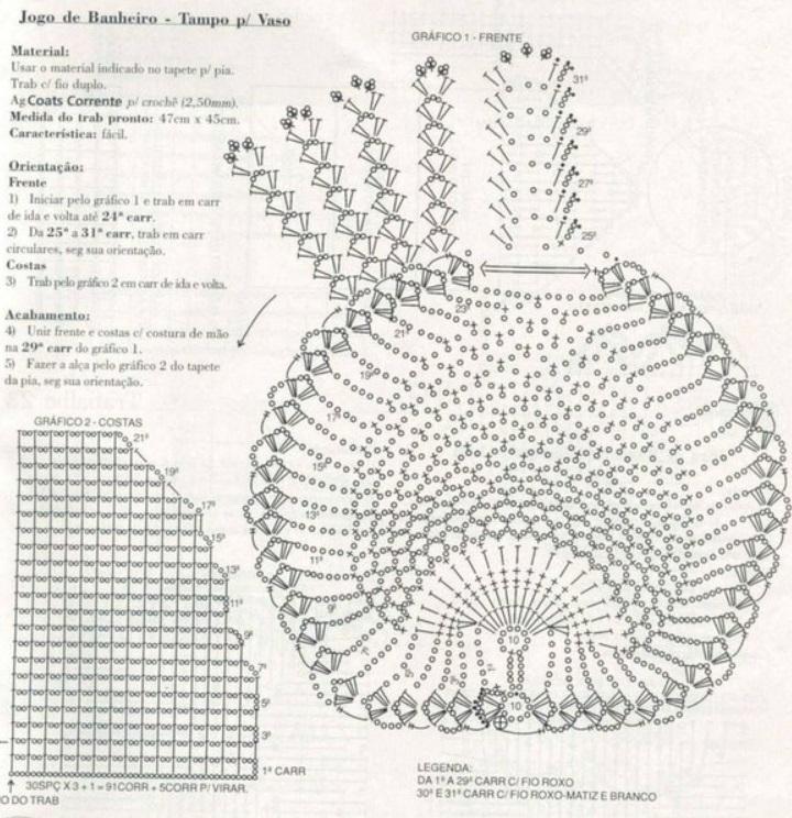 Чехлы коврики крючком схемы