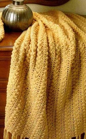 Вязание пледа крючком