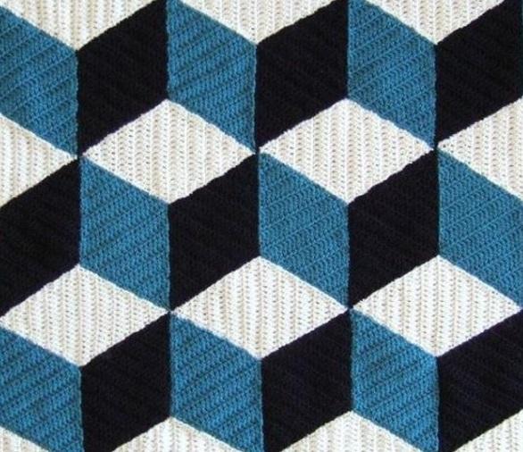 Геометрический узор вязание крючком