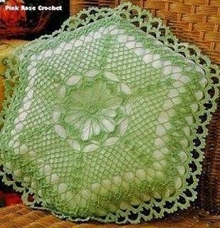 Шестиугольная подушка крючком