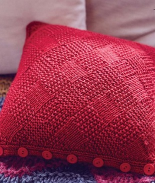 Связать подушку спицами