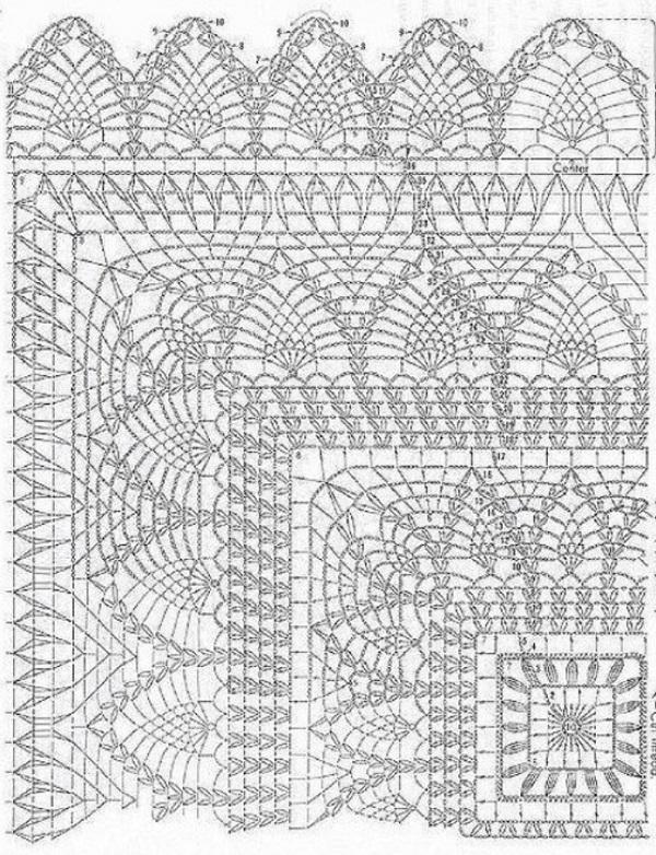 Крючок вязание схемы наволочки 53