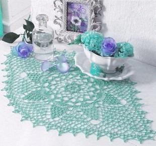 Вязание ажурной салфетки