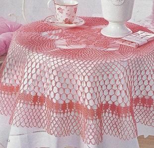 Вязание круглой скатерти