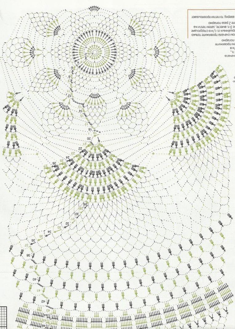 Схема вязания большой скатерти крючком схемы 21