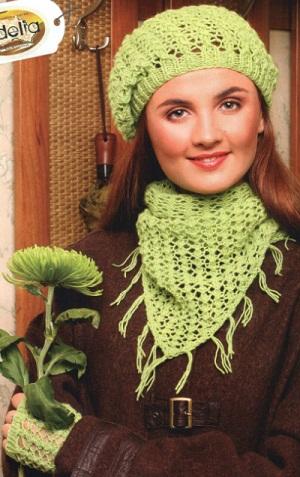 b как /b связать красивый шарф спицами.