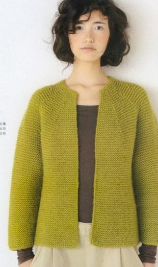 Вязание простого жакета спицами
