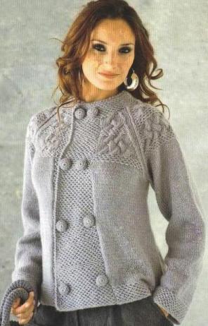 вязаное платье спицами схема. кофта с коротким рукавов из мохера
