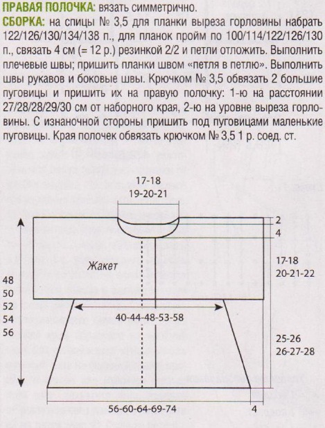Описание: как связать ажурный жилет спицами.