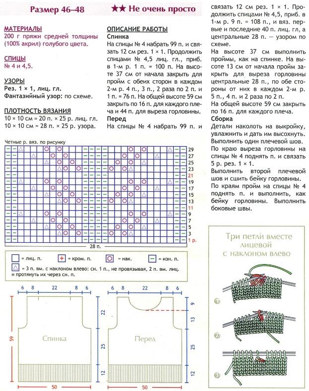 Вязание 100 акрилом спицами схемы