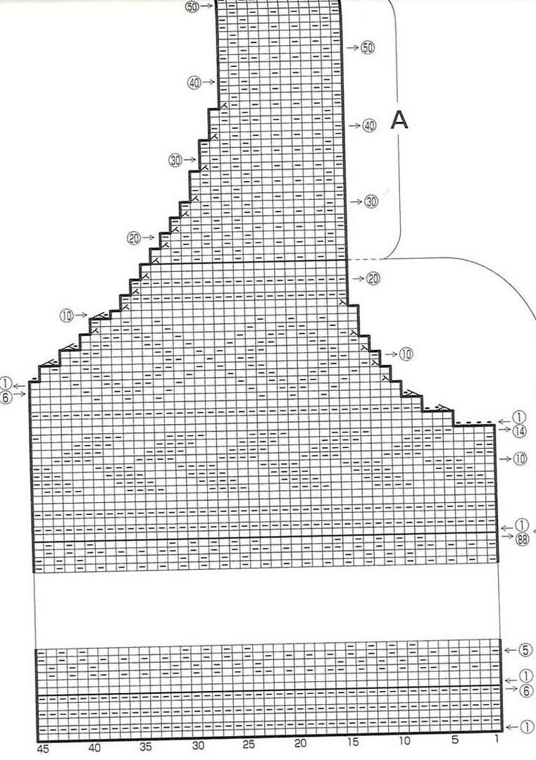 детская жилетка схема вязания с рисунком