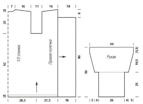 Комментарий: схемы вязания спицами кардиганов больших размеров Мир схем