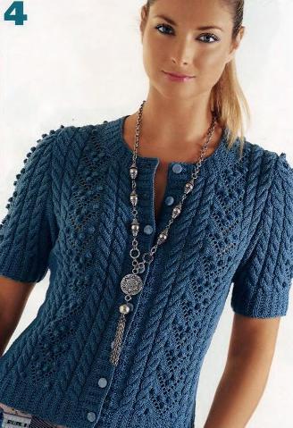 Схемы вязания и узоры вязаных жакетов и кофточек крючком и на спицах бесплатно.  Ведь под понятием кофты, и жакеты.