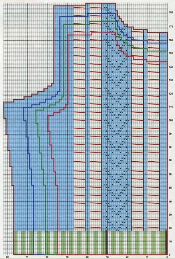 Описание: вязание манишки спицами Про Нити.