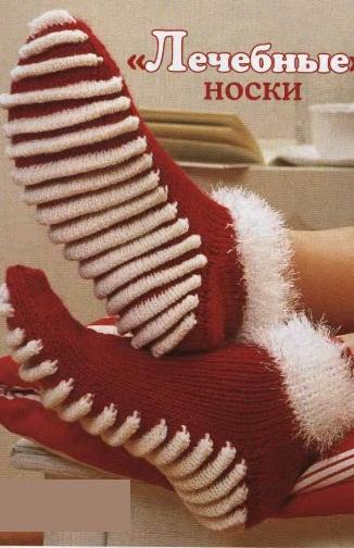 Вязание спицами носков