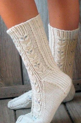 Носки с совами спицами