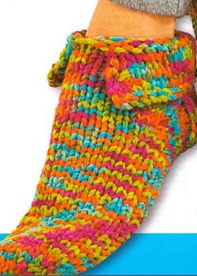 Носки - тапочки спицами