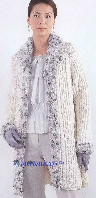 Связать пальто спицами