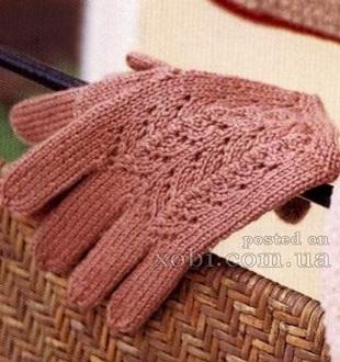 Связать перчатки спицами