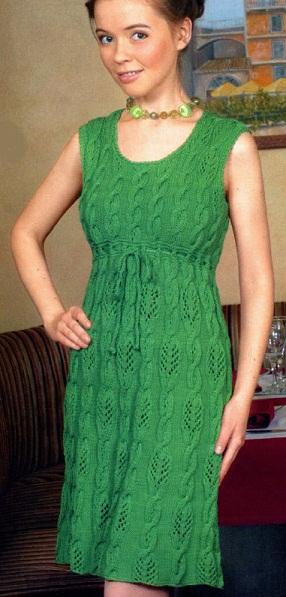 Платье спицами схемы