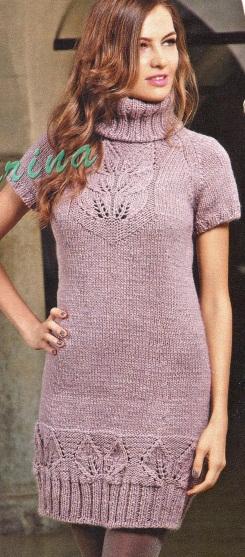 3 days ago - Рубрика: Вязание для женщин спицами, туники, платья - Ваш отзыв - вязаное платье спицами