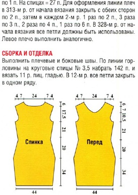 Вязаные летние платья спицами