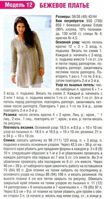 платье туника схема