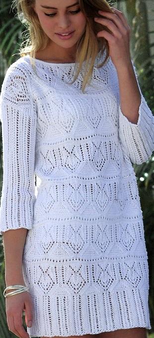 Вязание платья-туники спицами