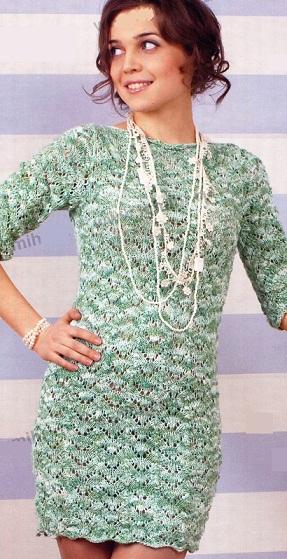 Модели вязаных платье розовое платье для девочки вязаное спицами - Вязание белое ажурное платье для девочки - Вязание