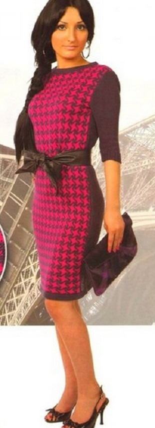 Платье Париж спицами