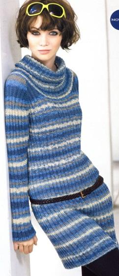 Схема вязания платья туники.  Этой осенью вам не будет холодно...  Осень - самое лучшее время для того...