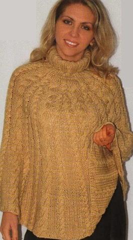 Схема вязания пончо .