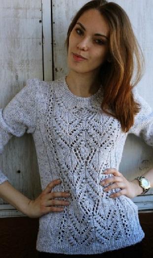 Вязание пуловера с узорами