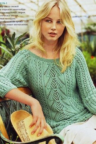 Пуловер для женщин спицами