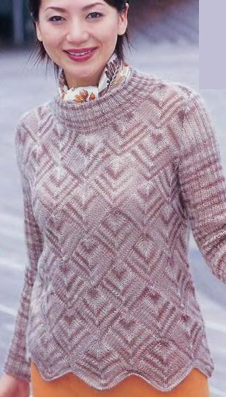 Вязание женского пуловера спицами