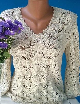 Красивый узор для вязания пуловера