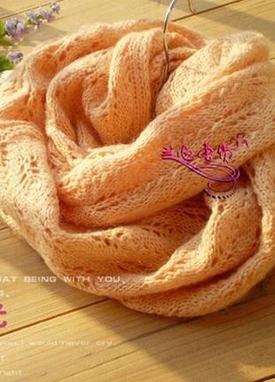 Вязание ажурного шарфа